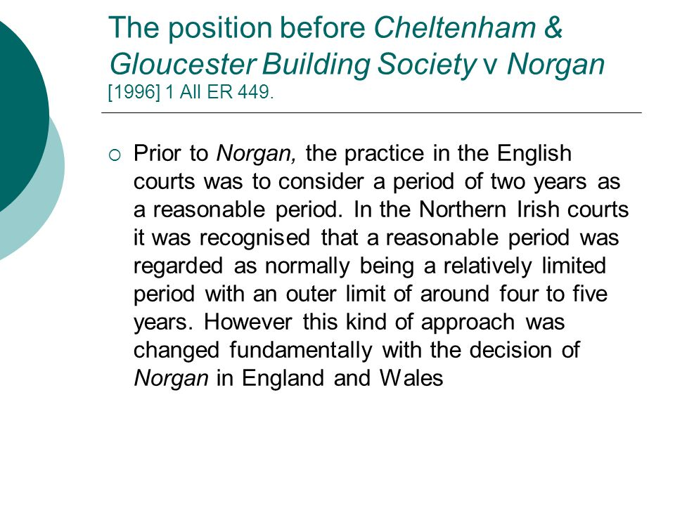 The position before Cheltenham & Gloucester Building Society v Norgan [1996] 1 All ER 449.